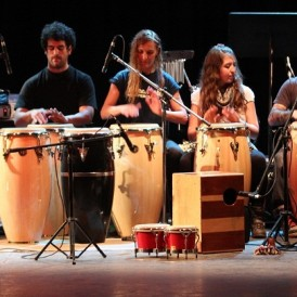 percusión con alumnos