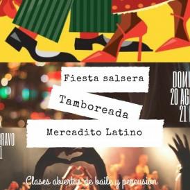 Tamboreada y Fiesta Salsera 20-8-17